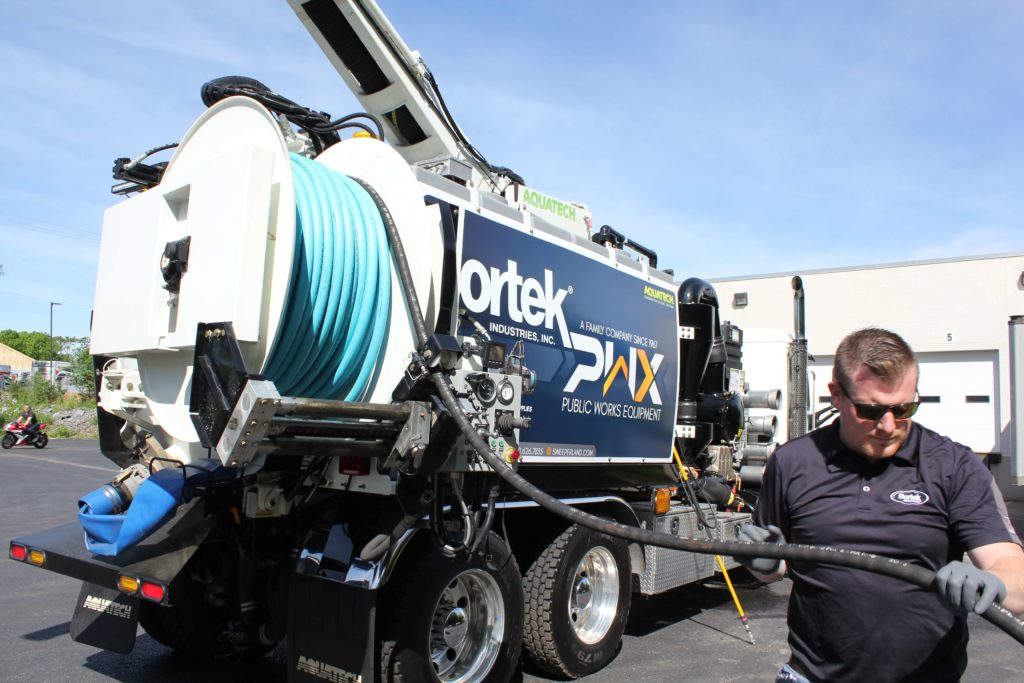 Aquatech B-10 Jet/Vac Sewer Cleaning Truck Jetter Hose