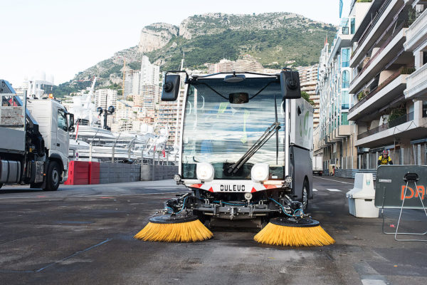 Dulevo D.Zero2 Electric Street Sweeper at the harbor