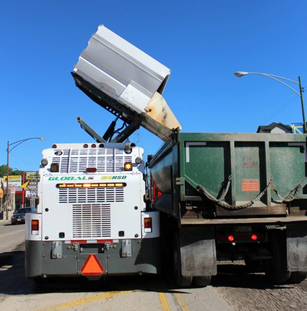 Global M4 HSD High Side Dump Street Sweeper