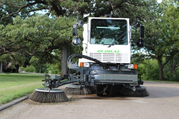 Global M3 Street Sweeper 3-Wheel Articulating Broom Arm