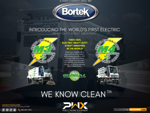 Introducing the World's First Electric Heavy Duty Street Sweepers!