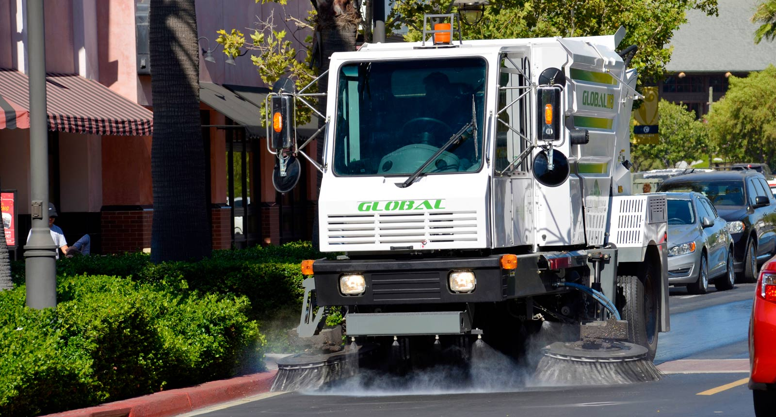 Global M3 Street Sweeper Dust Control