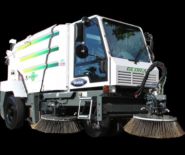 Global M3 Three-Wheeled Street Sweeper