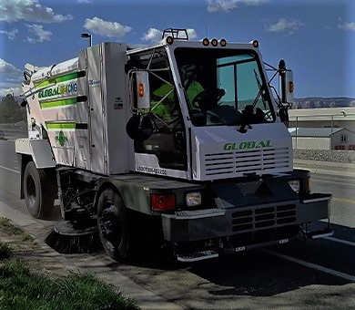 Global M4 CNG Natural Gas Mechanical Sweeper