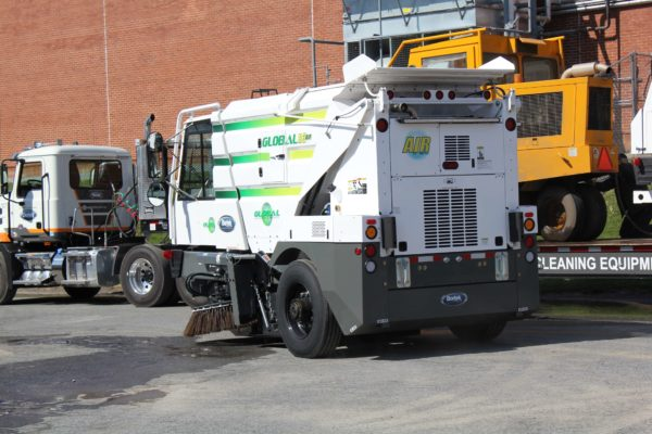 Global R3 Air Street Sweeper in parking lot