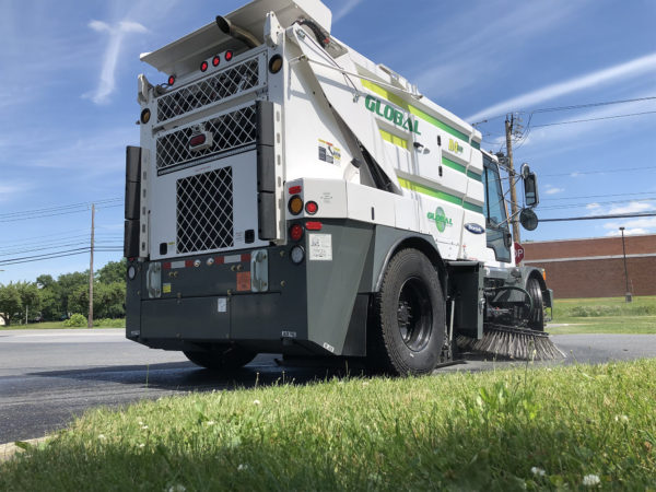Global R4 Regenerative Air Street Sweeper Rear Angle
