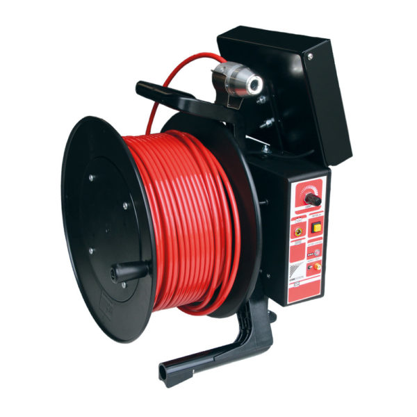 NozzCam Camera on Reel Jet Vac Sewer Nozzle (USB-USA)
