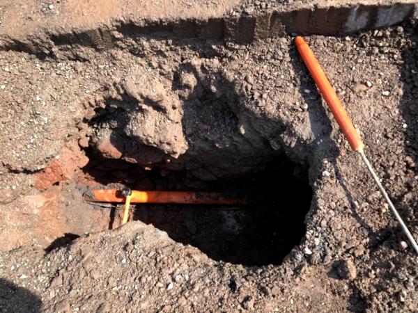 X-Vac Hydro excavation of buried utilities