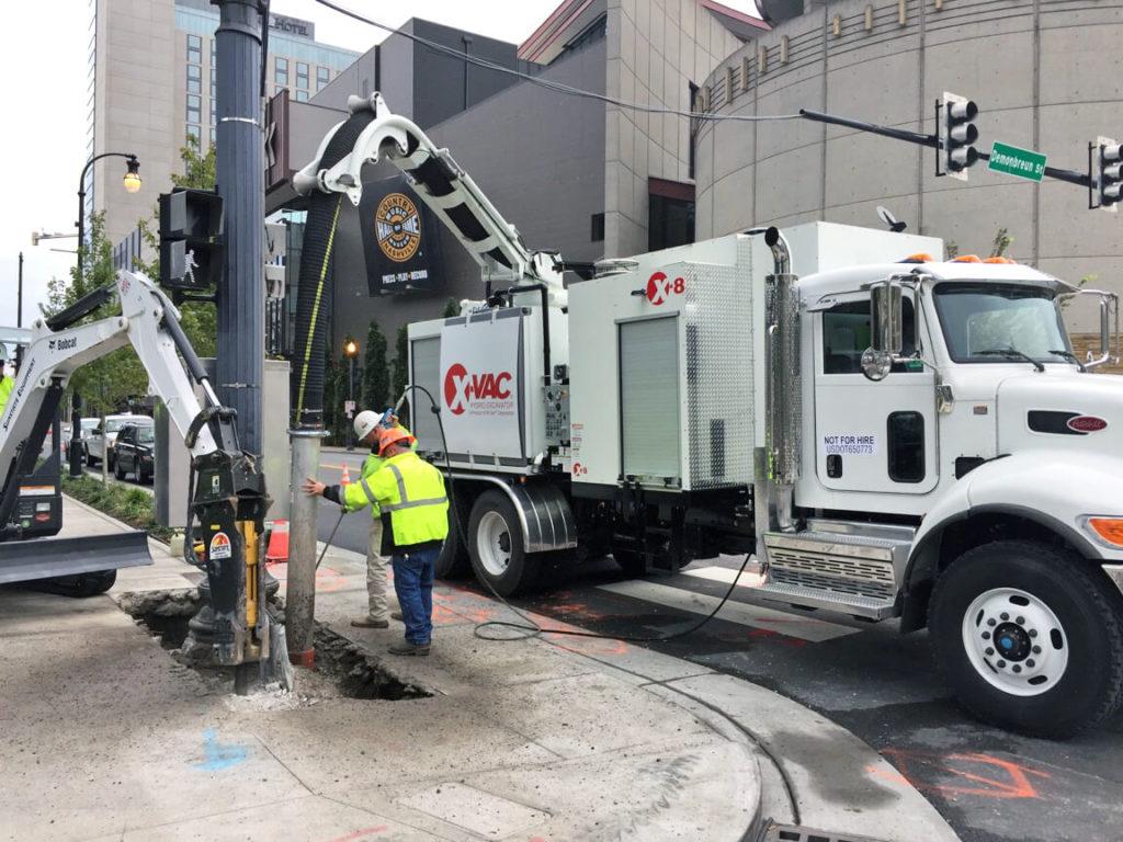 X-Vac X-8 Hydro Excavator Sidewalk Utility Excavation