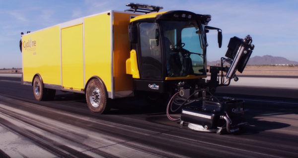 Cyclone 4006AC Runway Rubber/Paint Removal Vehicle