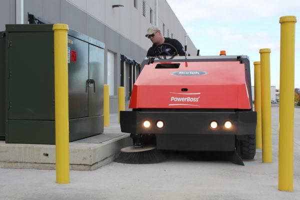PowerBoss Atlas Outdoor Parking Lot Sweeper