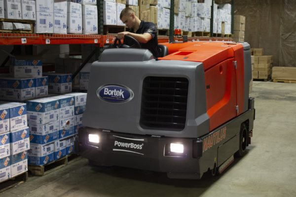 PowerBoss Nautilus Scrubber Cleaning Warehouse