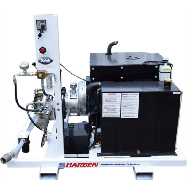 Harben Skid Mounted Jetter- High Pressure Pump System- Bortek Industries Inc